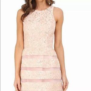 Aidan Mattox Women's Pink Metallic Floral DressNWT